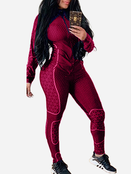 Patchwork Long Sleeve Womens Gym Wear