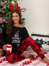Christmas Printed Paid Pajamas For Women