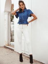 Smart Waist Skinny White Jeans