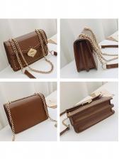 Rivets Decor Rectangle Pu Chain Crossbody Bags