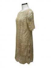 Fashion Crew Neck Short Sleeve Sequin Dress
