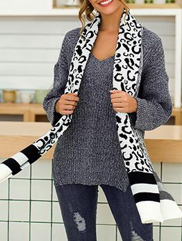 Deep V Solid Split Knit Sweater