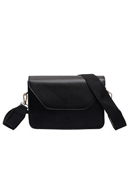 Minimalist Solid Color Wide Belt Crossbody Shoulder Bag
