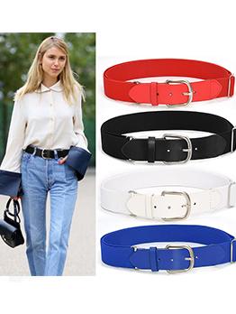 Faux Leather Elastic Ladies Designer Belts