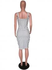 Fashion Bow Plaid Sleeveless Dress
