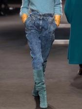 Versatile Beading Slim High Waisted Jeans