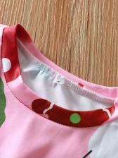 Christmas Snowman Print Long Sleeve Short Dress