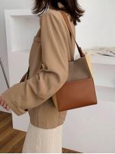 Color Patchwork Large Capacity Ladies Shoulder Bag