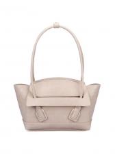 Alligator Print Curved Handle Solid Ladies Handbags