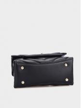 V-Shape Thread Pure Color Pu Chain Shoulder Bag