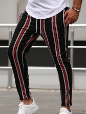 Contrast Color Striped Track Pants