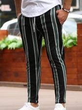 Contrast Color Striped Track Pants