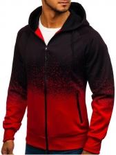 Gradient Color Mens Zip Up Hoodies
