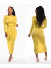 Sexy Long Sleeve Velvet Maxi Dress