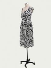 Off Shoulder Fitted Leopard Print Ladies Dress