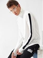 Contrast Color High Neck t Shirts For Men