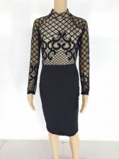 Night Club Lace Patchwork Bodycon Dress