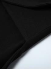 Contrast Color Long Sleeve Bodycon Dress