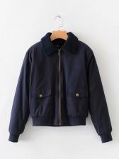 Vintage Lambswool Turn Down Neck Jacket