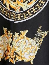 Slim Fit Retro Long Sleeve Shirt Dress