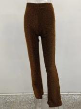 Glitter High Waist Wide Leg Pants