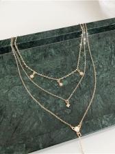 Chic Star Rhinestone Layered Necklace