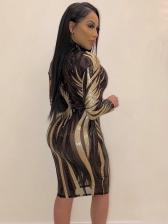 Night Club See Through Bodycon Sequin Dress