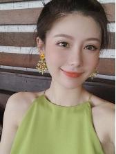 Retro Rhinestone Baroque Flower Earrings For Women