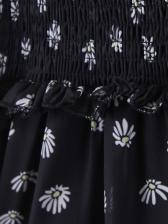 Long Sleeve Chiffon Vintage Floral Dresses