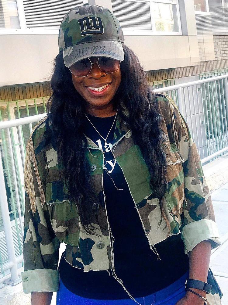 Tassel Decor Irregular Plus Size Camouflage Jacket