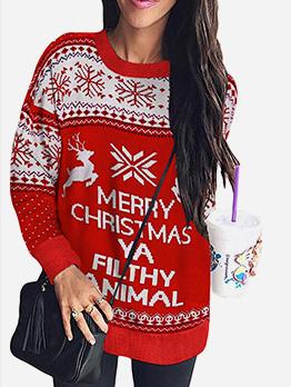 Christmas Printed Hoodies For Women