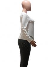 Rhinestone Tassel Long Sleeve Shirts