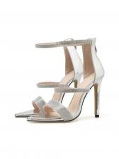 Glitter Rhinestone Straps Strappy Sandals