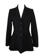 Ol Style Lapel Collar Single Breasted Black Blazer
