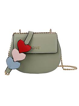Cute Style Heart Decor Semicircle Chain Crossbody Bags