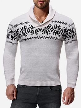 Turtle Neck JacquardWeaveSweaters For Men