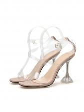 Sexy Transparent Cross Belt Women Sandals