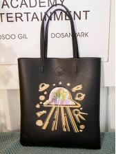 Versatile UFO Sequin Pattern Pu Over The Shoulder Bags