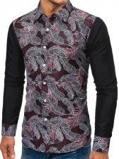 Print Patchwork Casual Men t Shirt Design