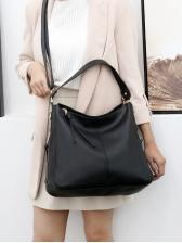 Minimalist Solid Side Zippers Ladies Handbags With Belt