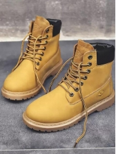 Contrast Color Whip Stitch Ladies Boots