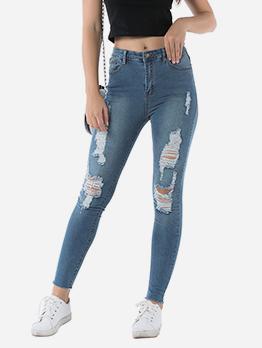 Fashion Skinny High Waist Ripped Jeans