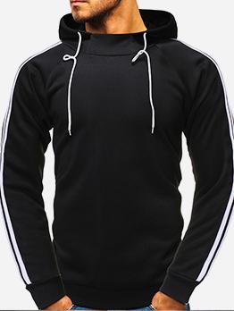 Solid Leisure Long Sleeve Hoodies For Men