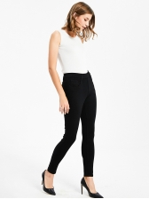 Casual Solid Elastic Waist Thickening Skinny Jeans