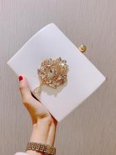 Vintage Style Shining Diamonds Velvet Evening Handbags