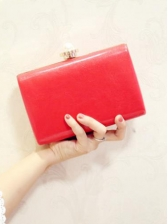 Rectangle Stereo Flowers Evening Clutch Bags With Chain