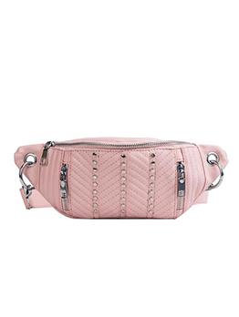 Easy Matching Rivet Zipper Shoulder Bags