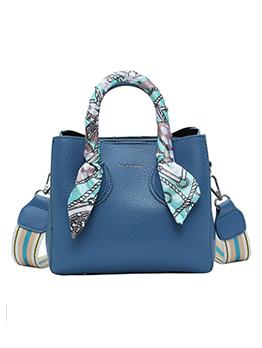 Scarf Patchwork Ladies Shoulder Bag