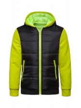 Stitching Color Hooded Cotton-Padded Jackets For Men