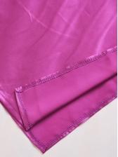 High Split V Neck Satin Sleeveless Maxi Dress Evening Dress
